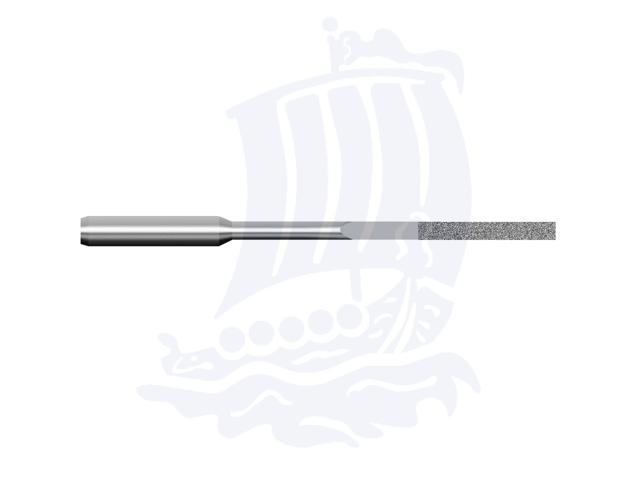 Lima diamantata DLA-2X1-D151, 2x1mm - Gambo d. 3mm