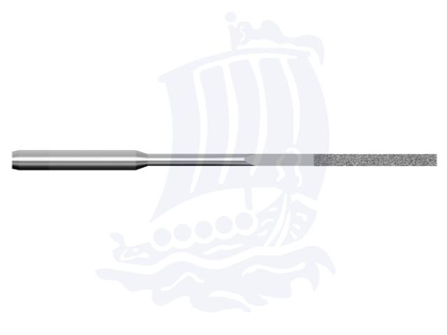 Lima diamantata DLA-0.75x4-D151, 0,75x4mm - Gambo d. 3mm