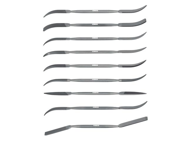 Assortimento lime doppie Rifloirs, lung. 190mm, acciaio - Taglio 0