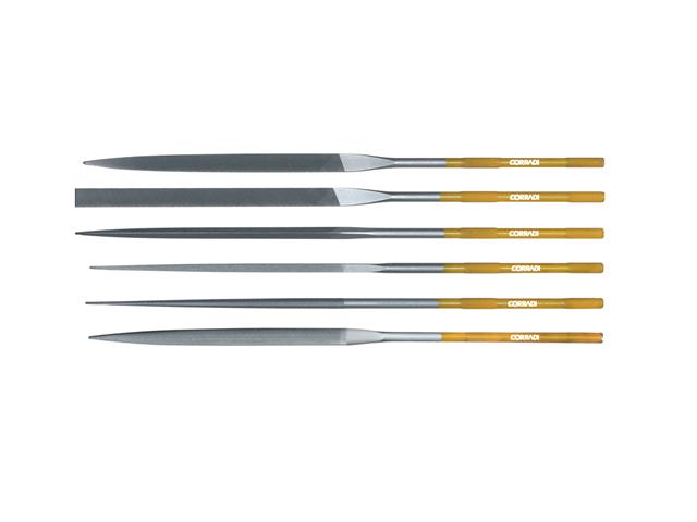 Assortimento lime Corinox, lunghezza 180mm - Taglio 0 - Gambo d. 3,5mm