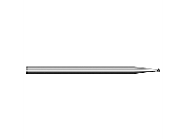 Fresa metallo duro, d. 0,6x44mm, sferica - Gambo d. 2,35mm - 1/006