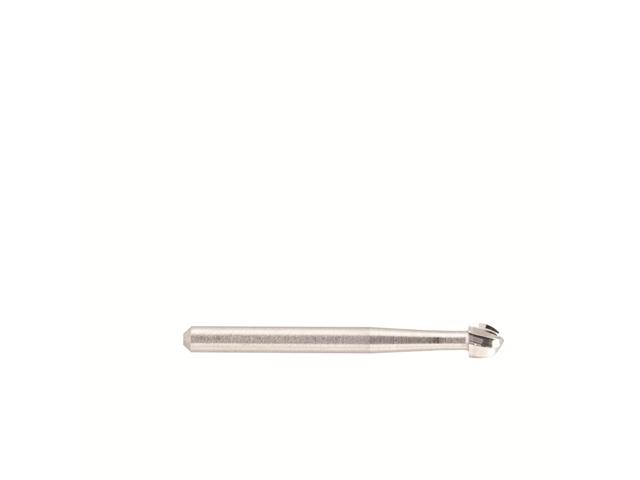 Fresa metallo duro, d. 2,1x44mm, sferica - Gambo d. 2,35mm - 1/021