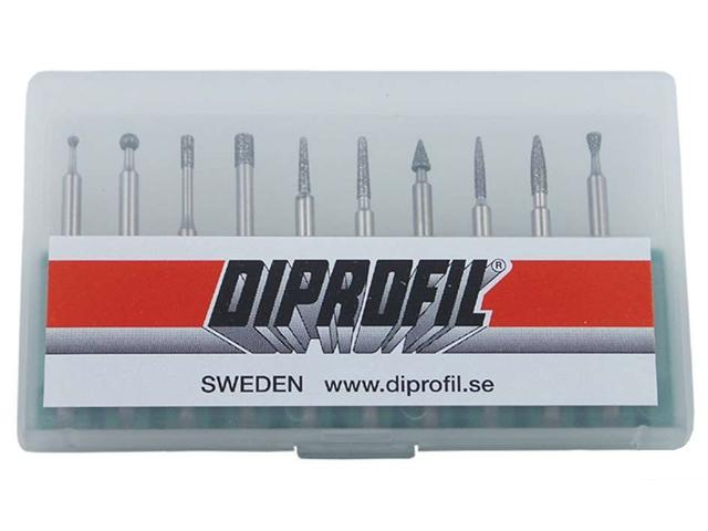 Assortimento strumenti diamantati SET-10B-3 - Gambo d. 3mm