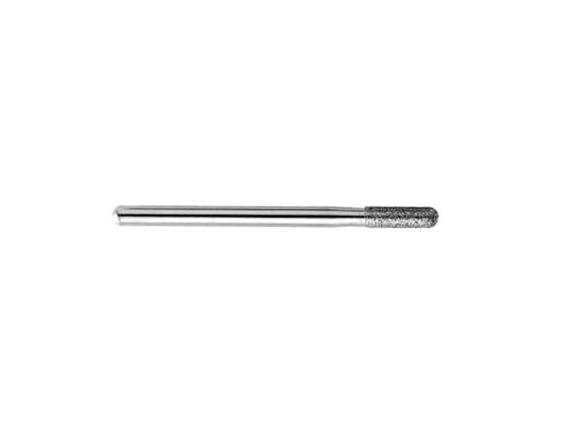 Strumento rotativo diamantato, d. 2,5x10mm , BMA-25C, punta tonda - Gambo d. 3,0mm