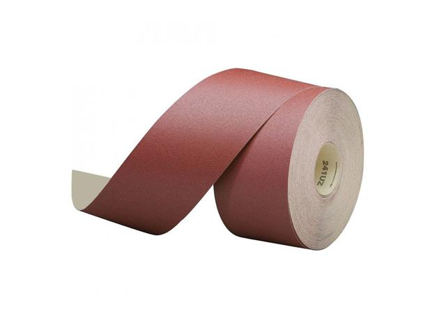Tela abrasiva tipo F, 50mmx25m, Grana 120, corindone - Rotolo