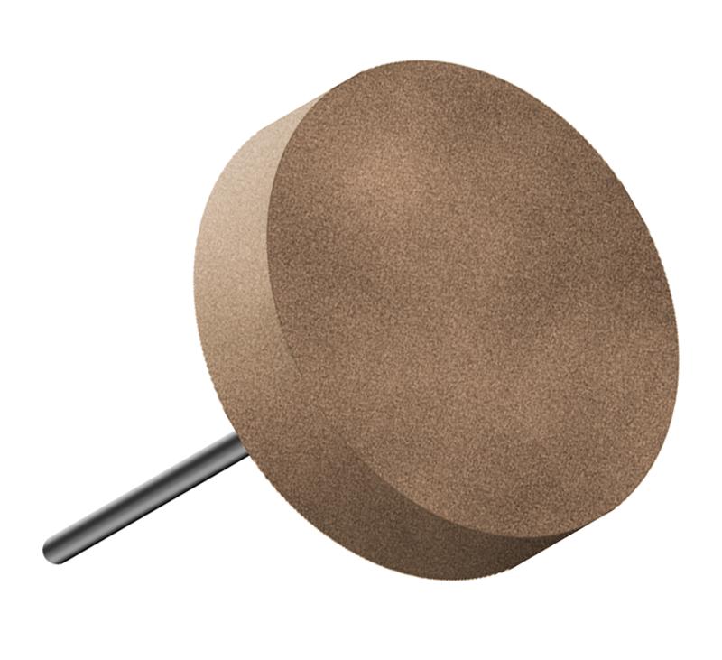 Disco in gomma, d. 30x5mm, Grana 60 - Gambo d. 3mm - Conf. 10pz.
