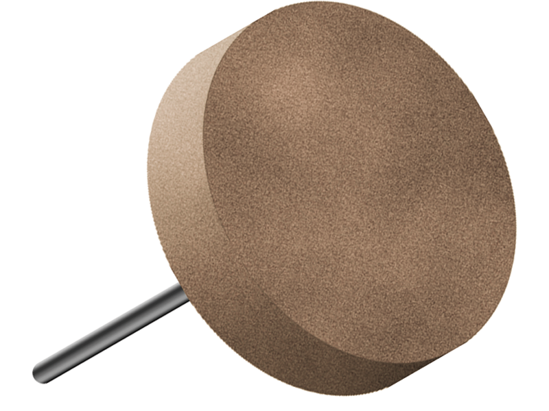Disco in gomma, d. 30x5mm, Grana 240 - Gambo d. 3mm - Conf. 10pz.
