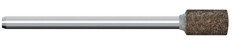 Mola in gomma, d. 8x10mm, Grana 120, cilindrica - Gambo d. 3mm - Conf. 10pz.