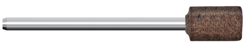 Mola in gomma, d. 10x10mm, Grana 120, cilindrica - Gambo d. 3mm - Conf. 10pz.