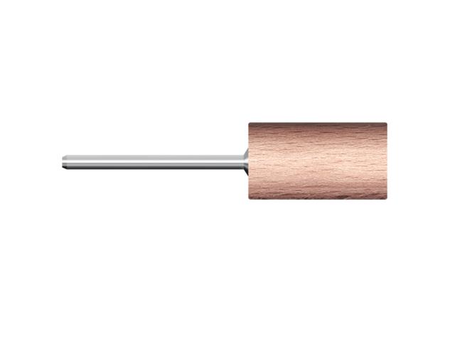 Legno rotativo duro, d. 20x30mm, faggio, cilindrico - Gambo d. 3mm - Conf. 10pz.