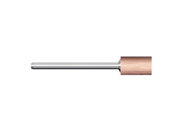 Legno rotativo duro, d. 6x15mm, cilindrico - Gambo d. 3mm x lung. 75mm - Conf. 10pz.