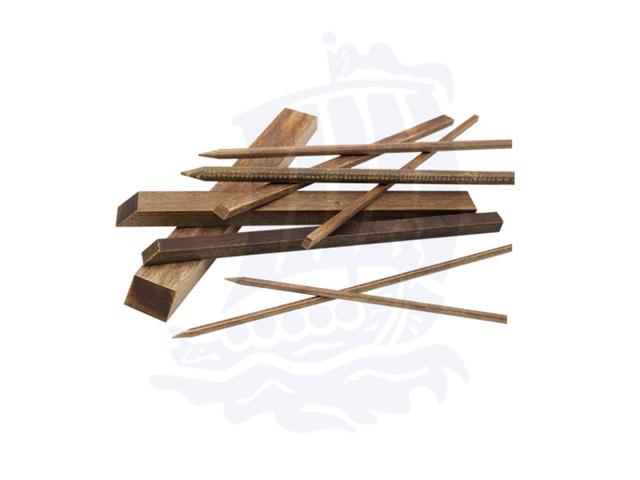 Assortimento stecche in legno duro, faggio