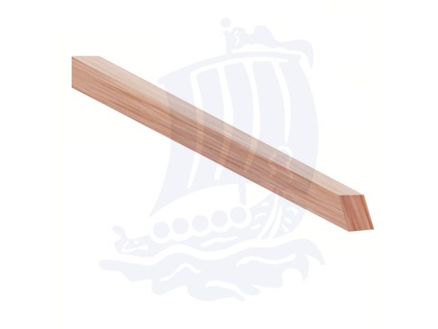 Stecca in legno morbido, 3x3x150mm, tiglio, quadrata - Conf. 10pz.