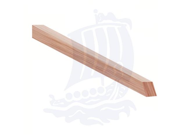 Stecca in legno morbidissimo, 3x3x150mm, balsa, quadrata - Conf. 10pz.
