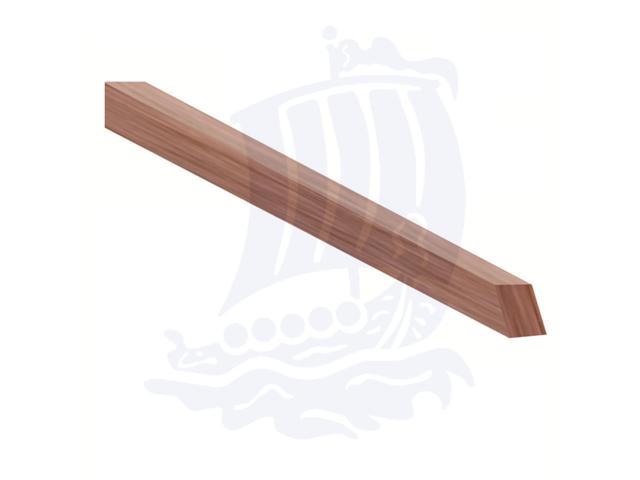 Stecca in legno duro, 4,5x4,5x150mm, faggio, quadrata - Conf. 10pz.