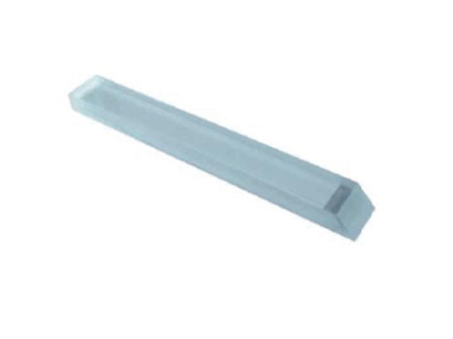 Stecca in Plexiglass trasparente, 4,5x4,5x150mm, quadrata - Conf. 10pz.