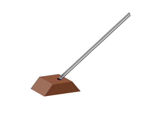 Sostegno per tela abrasiva dim. 34x19mm - Gambo d. 4mm