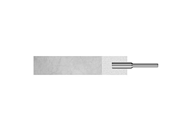 Sostegno per tele abrasive dim. 50x10mm - Gambo d. 4mm
