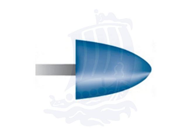 Mola blu d. 12,7x15,8 lung. 38mm B42-Mesh, Grana 120 - Gambo d. 3mm - Conf. 12pz.