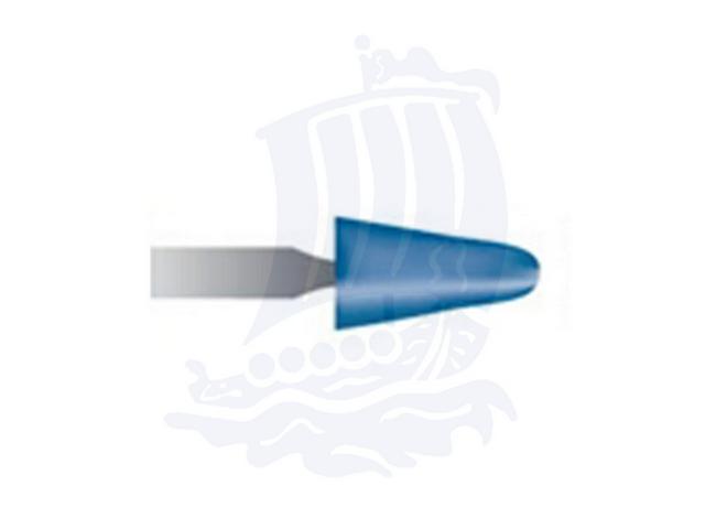 Mola blu d. 5,5x9,5 lung. 38mm B44-Mesh, Grana 120 - Gambo d. 3mm - Conf. 12pz.