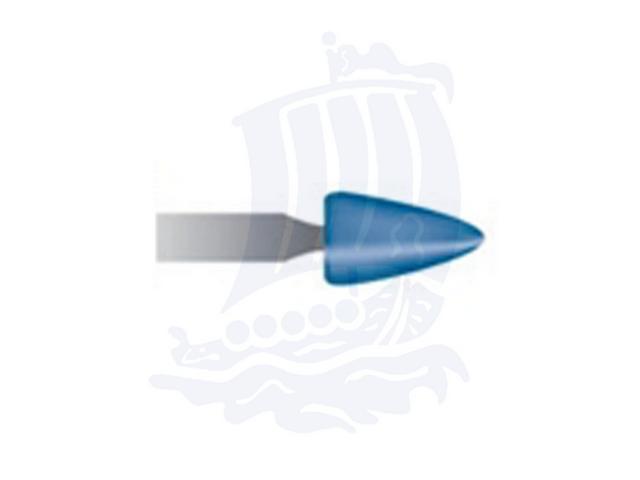 Mola blu d. 4,7x7,9 lung. 38mm B45-Mesh, Grana 120 - Gambo d. 3mm - Conf. 12pz.