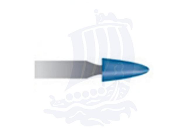 Mola blu d. 3,1x6,3 lung. 38mm B55-Mesh, Grana 120 - Gambo d. 3mm - Conf. 12pz.