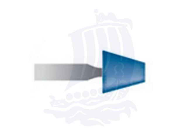 Mola blu d. 6,3x6,3 lung. 38mm B92-Mesh, Grana 120 - Gambo d. 3mm - Conf. 12pz.