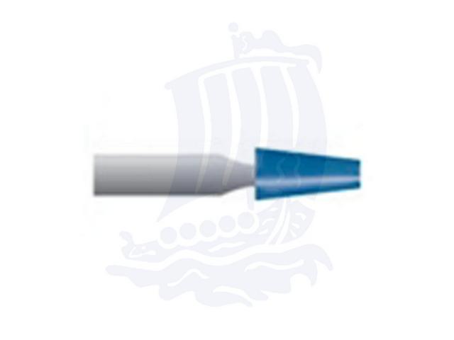 Mola blu d. 3,1x6,3 lung. 38mm B96-Mesh, Grana 120 - Gambo d. 3mm - Conf. 12pz.