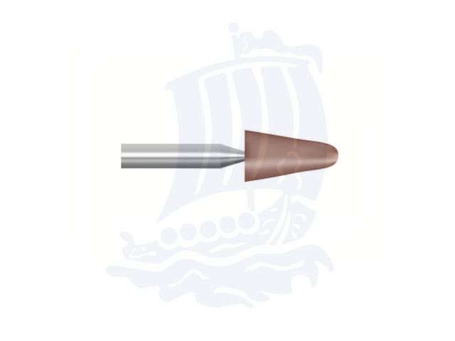 Mola rossa d. 5,5x9,5 lung. 38mm B44-Mesh, Grana 80 - Gambo d. 3mm - Conf. 12pz.