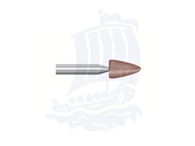 Mola rossa d. 4,7x7,9 lung. 38mm B45-Mesh, Grana 80 - Gambo d. 3,175mm - Conf. 12pz.