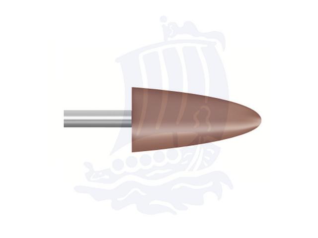 Mola rossa d. 9,4x18,8 lung. 38mm B52-Mesh, Grana 80 - Gambo d. 3mm - Conf. 12pz.