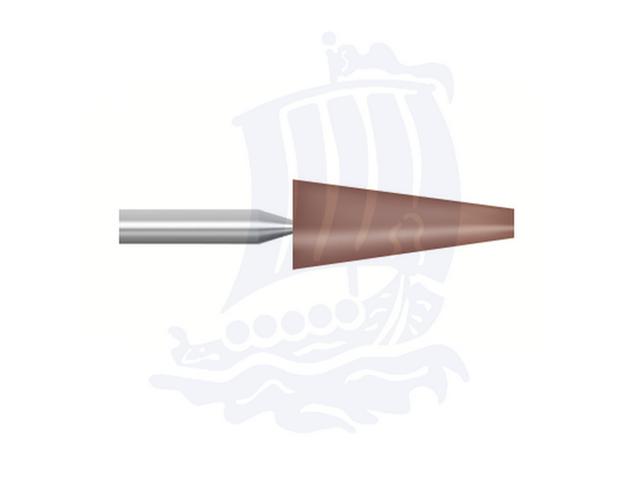 Mola rossa d. 6,3x15,8 lung. 38mm B53-Mesh, Grana 80 - Gambo d. 3,175mm - Conf. 12pz.