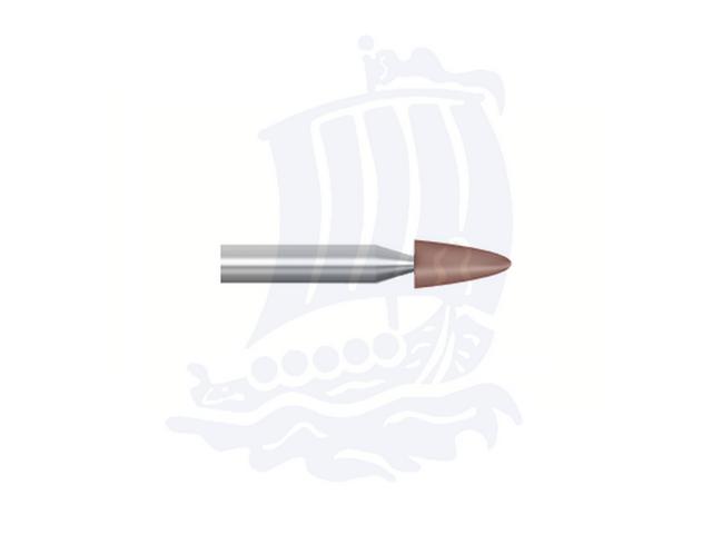 Mola rossa d. 3,1x6,3 lung. 38mm B55-Mesh, Grana 120 - Gambo d. 3,175mm - Conf. 12pz.