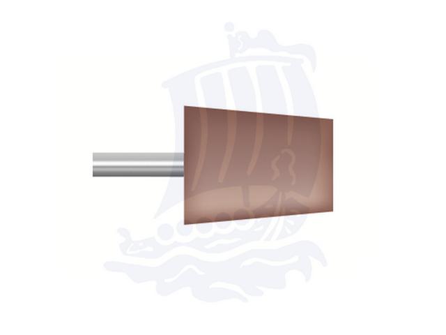 Mola rossa d. 12,7x15,8 lung. 38mm B91-Mesh, Grana 80 - Gambo d. 3mm - Conf. 12pz.