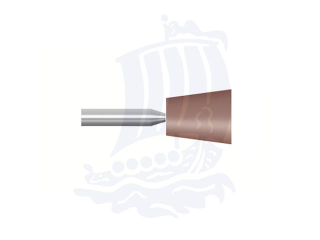 Mola rossa d. 6,3x6,3 lung. 38mm B92-Mesh, Grana 80 - Gambo d. 3mm - Conf. 12pz.