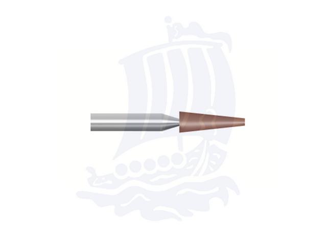 Mola rossa d. 2,4x9,3 lung. 38mm B97-Mesh, Grana 120 - Gambo d. 3mm - Conf. 12pz.