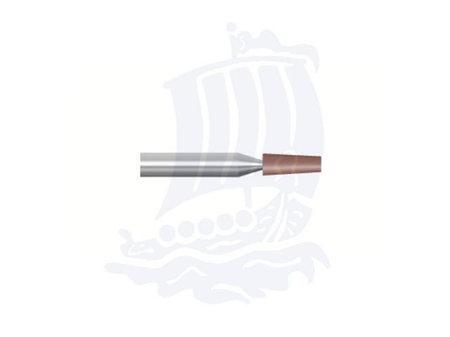 Mola rossa d. 2,3x6,4 lung. 38mm B98-Mesh, Grana 120 - Gambo d. 3,175mm - Conf. 12pz.