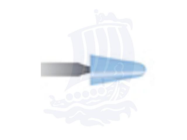 Mola azzurra d. 5,5x9,5 lung. 38mm B44-Mesh, Grana 120 - Gambo d. 3mm - Conf. 12pz.