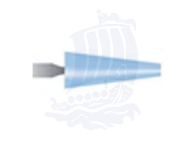 Mola azzurra d. 6,3x15,8 lung. 38mm B53-Mesh, Grana 120 - Gambo d. 3mm - Conf. 12pz.