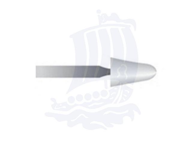 Mola bianca d. 5,1x8,7 lung. 38mm 22P-Mesh, Grana 400 - Gambo d. 2,35mm - Conf. 12pz.