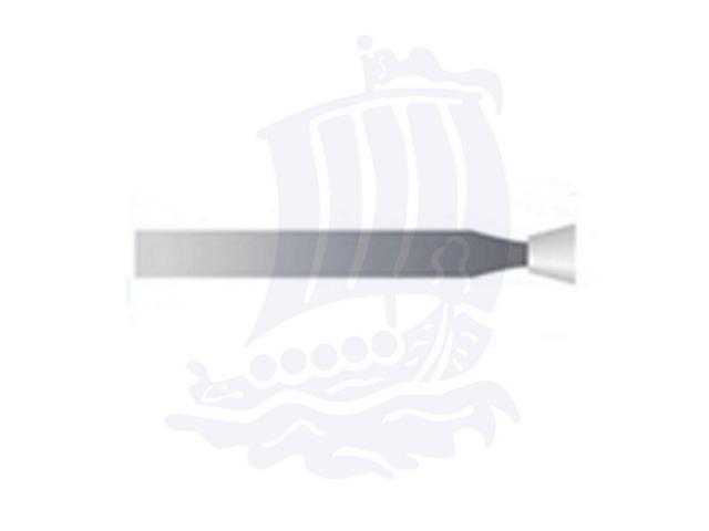 Mola bianca d. 2,3x3,1 lung. 38mm 34P-Mesh, Grana 400 - Gambo d. 2,35mm - Conf. 12pz.