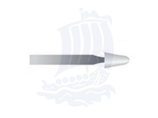 Mola bianca d. 2,7x5,5 lung. 38mm 46P-Mesh, Grana 400 - Gambo d. 2,35mm - Conf. 12pz.